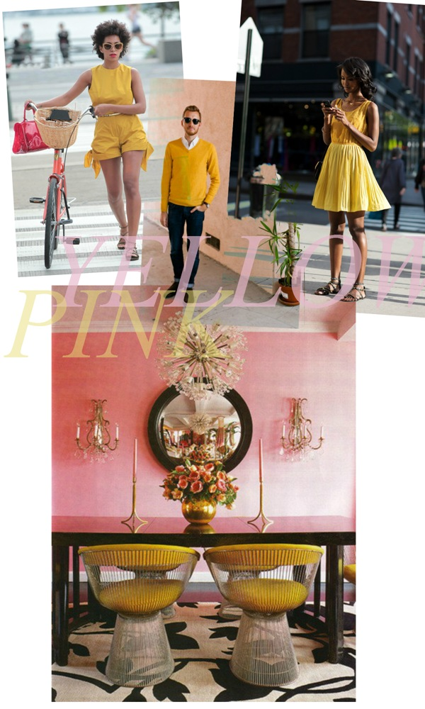 pink yellow style collage