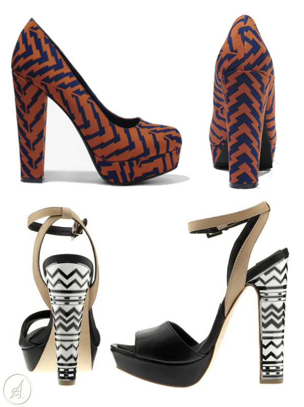 graphic high heels